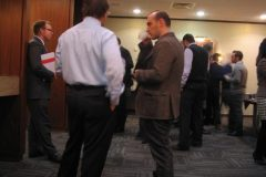 GPSG Conference delegates network during the coffee break