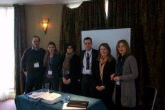 (L-R) Dr Takis Pappas, Eleni Christodoulou, Dr Lena Karamanidou, Dr Andrew Liaropoulos, Anastasia Kafe, Dr Vassiliki Georgiadou