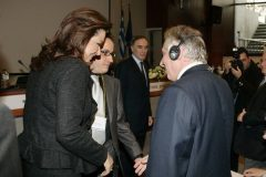 Greek Foreign Minister Mrs. Dora Bakoyiannis, with GPSG Convenor Roman Gerodimos and Prof. Philip Taylor