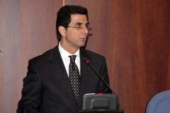 Greek Minister for the Media Mr. Konstantinos Gkioulekas addresses the GPSG conference
